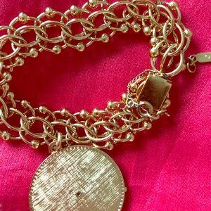 Monet vintage charm bracelet